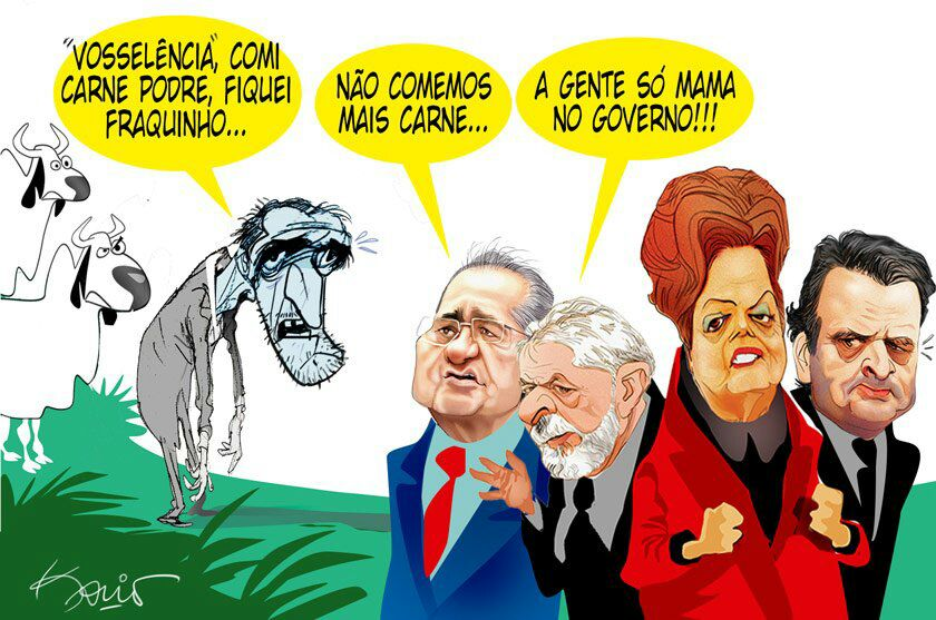 Resultado de imagem para RENAN ADMITE 'CONVERGÊNCIA' COM DISCURSO DE LULA: Charges