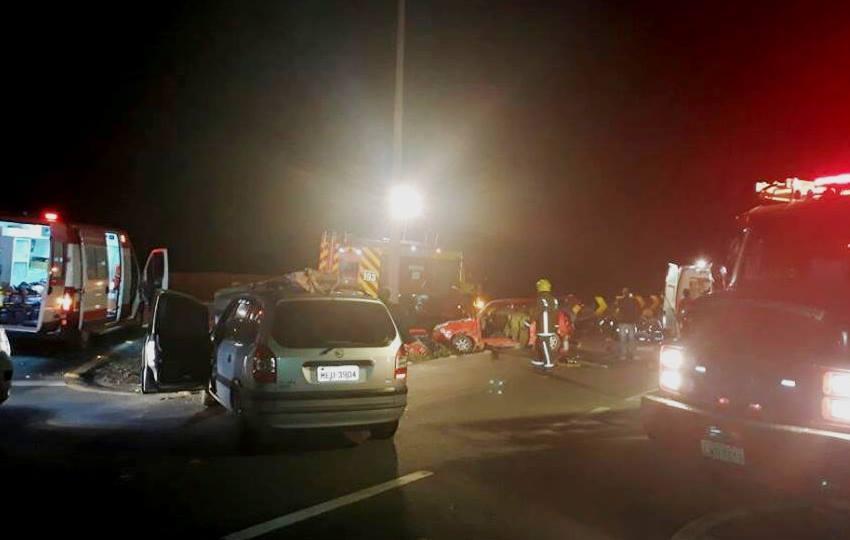 Grave acidente deixa oito pessoas feridas na BR-470, em Ilhota