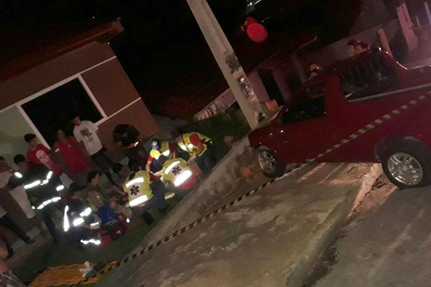 Colisão seguida de atropelamento é a primeira ocorrência de 2018 atendida pelos bombeiros de Gaspar